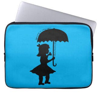 In The Rain With A Frog Laptop Computer Sleeves