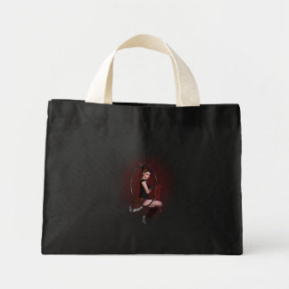 In the red canvas bags