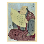 In the role of the announcer by Toshusai Sharaku Postcard