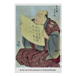 In the role of the announcer by Toshusai Sharaku Posters