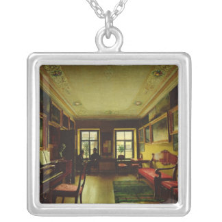 In the room square pendant necklace