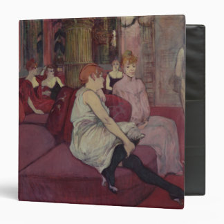 In the Salon at the Rue des Moulins, 1894 3 Ring Binder