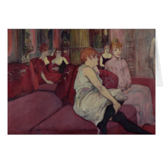 In the Salon at the Rue des Moulins, 1894 Card