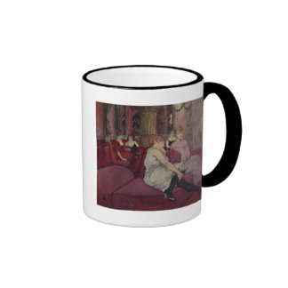 In the Salon at the Rue des Moulins, 1894 Ringer Coffee Mug