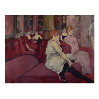 In the Salon at the Rue des Moulins, 1894 Postcard