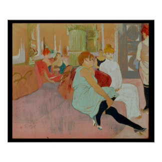 In the Salon at the Rue des Moulins, 1894 Poster