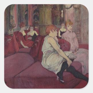 In the Salon at the Rue des Moulins, 1894 Square Sticker