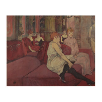 In the Salon at the Rue des Moulins, 1894 Wood Wall Art