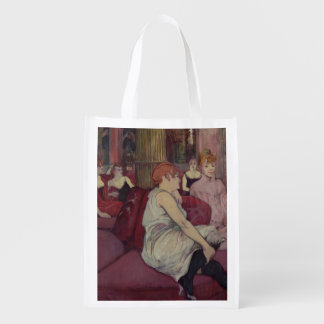 In the Salon at the Rue des Moulins, 1894 Reusable Grocery Bags