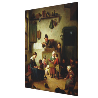 In the School Canvas Print