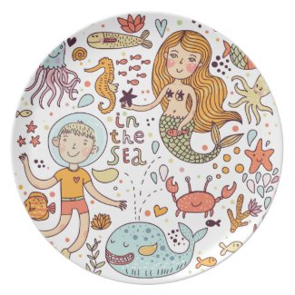 In the Sea Dinner Plates