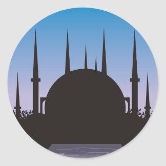 In the Shadow of Mecca Classic Round Sticker