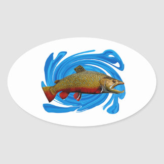 IN THE SHALLOWS OVAL STICKER