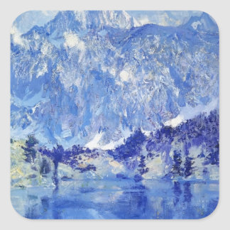 In the Sierra by Guy Rose Square Sticker