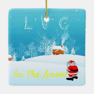 In The Snow Christmas Ornament