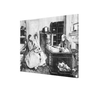 In the Solicitor's Office Canvas Print