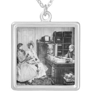 In the Solicitor's Office Silver Plated Necklace