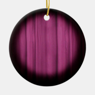 In the Spotlight Center Stage Curtain Background Double-Sided Ceramic Round Christmas Ornament