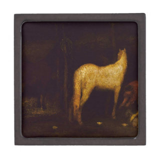 In the Stable by Albert Pinkham Ryder Keepsake Box