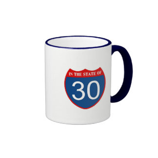 In the state of 30 ringer coffee mug