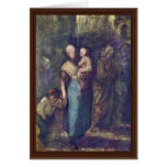 In The Street By Daumier Honoré Greeting Card