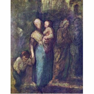 In The Street By Daumier Honoré Photo Cut Outs