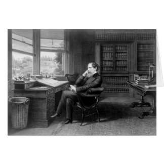 In the Study of Charles Dickens Card