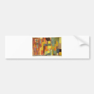 In the Style of Kairouan by Paul Klee Bumper Sticker