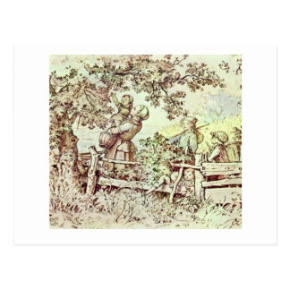 In The Summer By Richter Ludwig Postcard