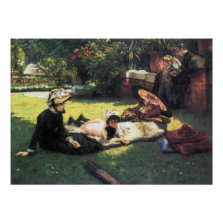 In the sun by James Tissot Posters