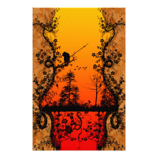 In the sunset stationery