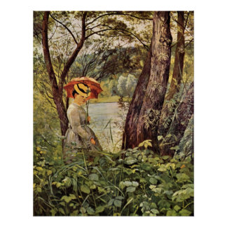 In the sunshine by Hans Thoma Print