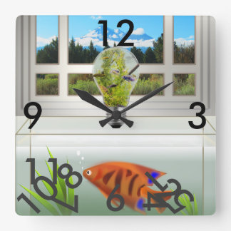 In the Tank Square Wall Clock
