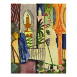 In the temple hall [1] by August Macke Posters