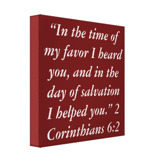 """""""In the time of my favor"""" Scripture Wrapped Canvas"""