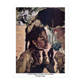 In The Tuileries: Woman With Umbrella Postcard