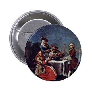 In The Vegetable Garden At The River Mouth Pinback Buttons