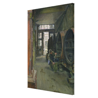 In the Vinegar Factory in Hamburg, 1891 Canvas Print