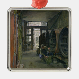 In the Vinegar Factory in Hamburg, 1891 Metal Ornament