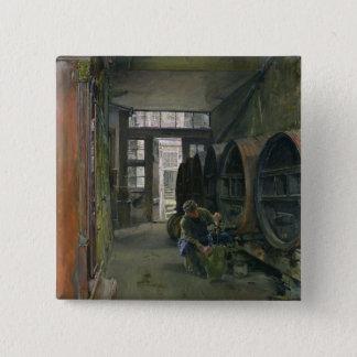 In the Vinegar Factory in Hamburg, 1891 Pinback Button