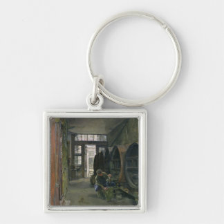 In the Vinegar Factory in Hamburg, 1891 Silver-Colored Square Keychain