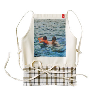 In the water zazzle HEART apron