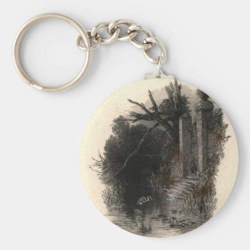 'In the Weedy Moat' Keychains