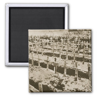 In the West nothing New: A German cemetery in Fran 2 Inch Square Magnet