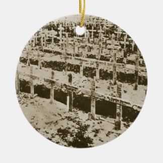In the West nothing New: A German cemetery in Fran Ceramic Ornament
