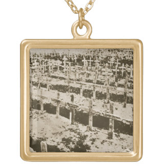 In the West nothing New: A German cemetery in Fran Gold Plated Necklace
