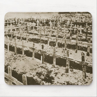 In the West nothing New: A German cemetery in Fran Mouse Pad