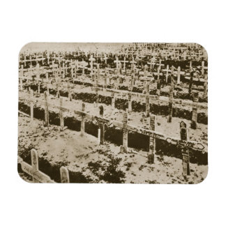 In the West nothing New: A German cemetery in Fran Rectangular Photo Magnet