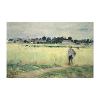 In the Wheatfield at Gennevilliers, 1875 Canvas Print