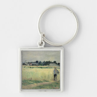 In the Wheatfield at Gennevilliers, 1875 Keychain